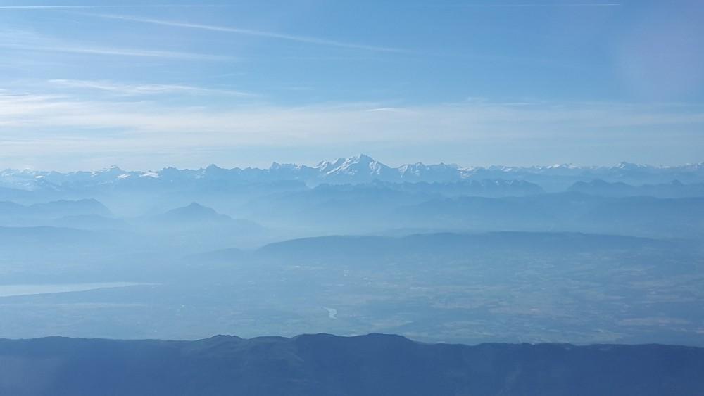Les Alpes, vues de l'avion