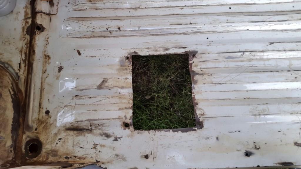ancien trou plancher cabine