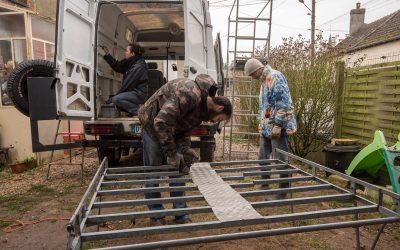 Installation d'une galerie sur le camion