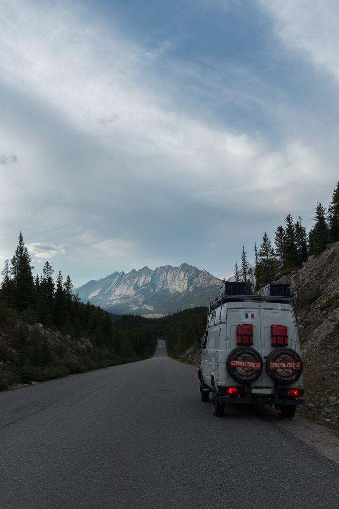 Sur la route de Jasper