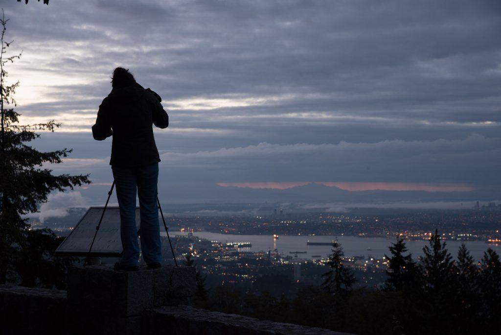 Lever de soleil sur Vancouver
