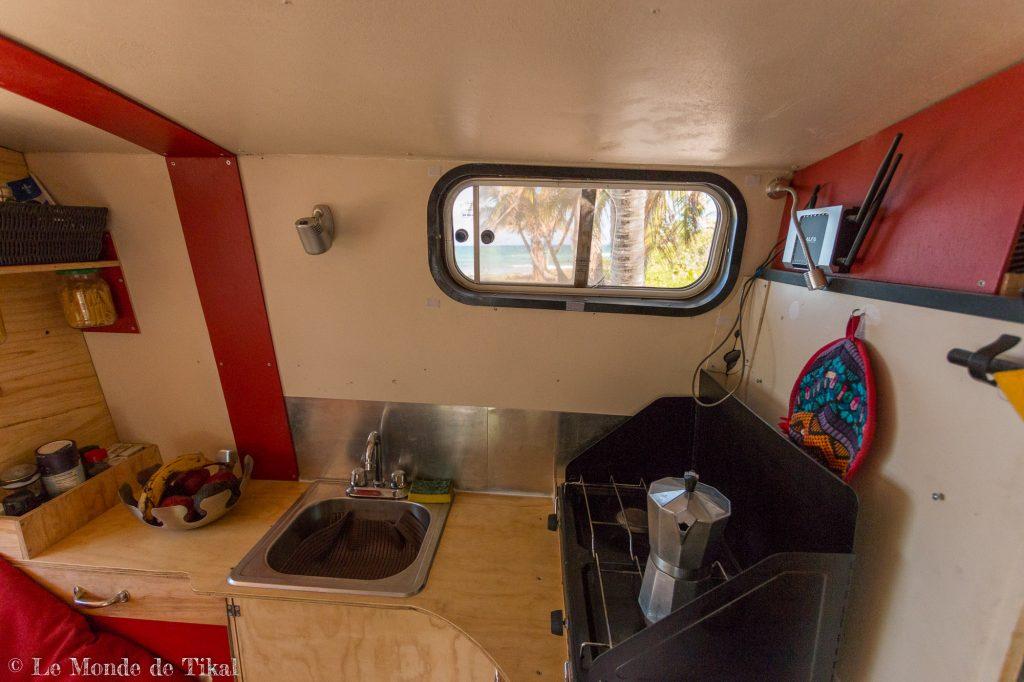 l'aménagement fait maison de notre camion