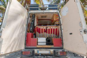 rangement toilettes van camion quotidien