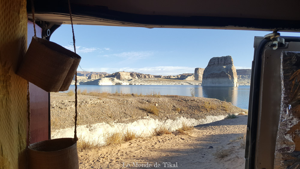 Lake Powell, USA quotidien fenetre window