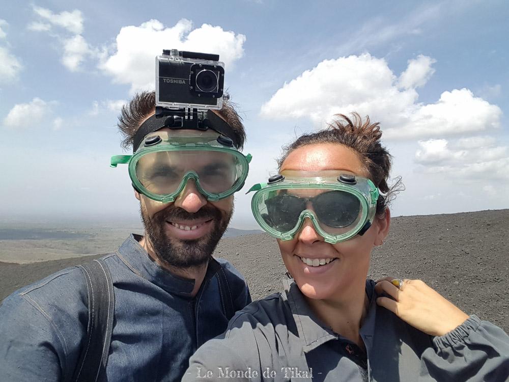 nicaragua cerro negro volcan volcano masque mask ashes cendres dana stéphane