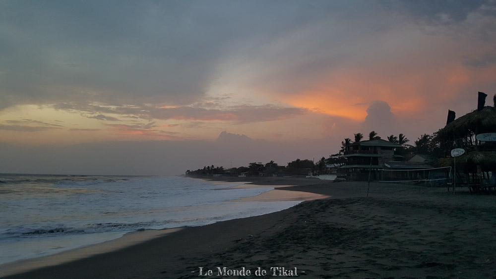 nicaragua pacific pacifique las penitas sable sand mer sea sunset coucher de soleil