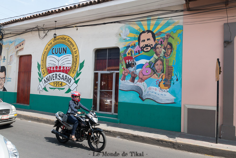 nicaragua leon street art rue revolution