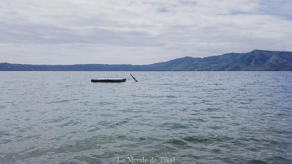 nicaragua laguna de apoyo lagune lac plongeon diving