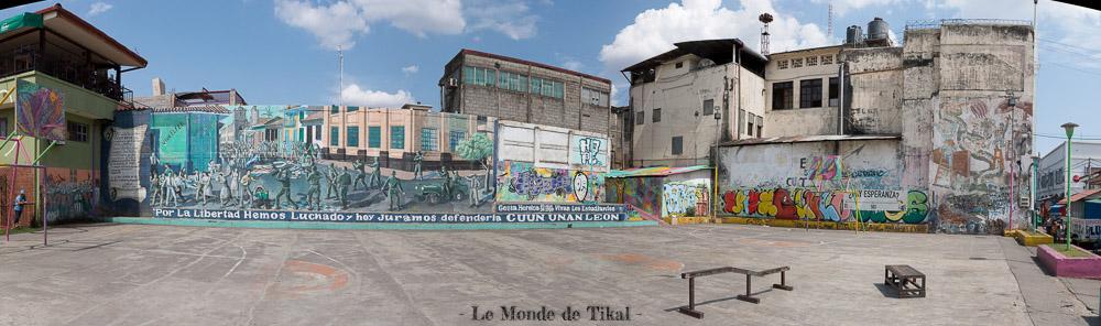 nicaragua león street art rue skate park panoramique panoramic