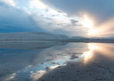 Reflets sur white sands - Nouveau Mexique