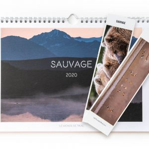 lot calendrier sauvage 2020 2 marque-pages photos animaux